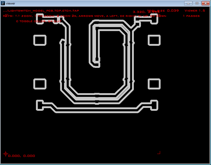 PC board layout in PCB-GCODE